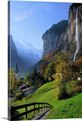 Switzerland, Bern, Lauterbrunnental (Lauterbrunnen Valley), Trummelbach Falls