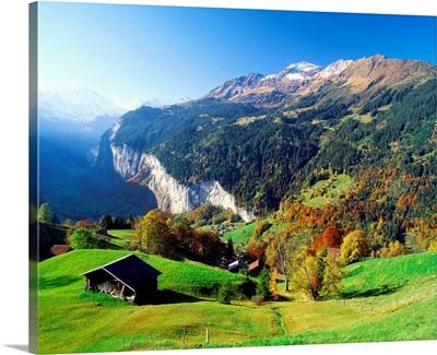 Switzerland, Bern, Murren, Grutschalp area