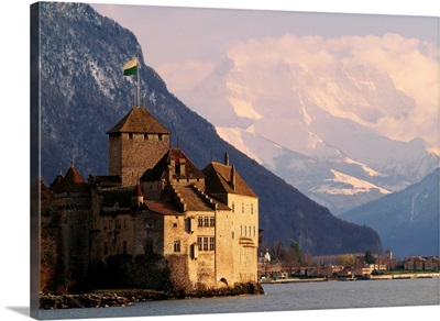 Switzerland, Lake Geneva, Castle of Chillon