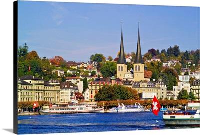 Switzerland, Luzern, Luzern, Lucerne, Lake of Lucerne