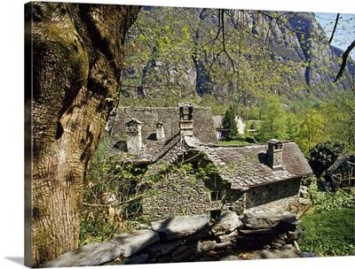 Switzerland, Ticino, Central Europe, Cevio, Maggia Valley, view of the village