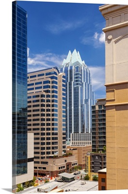 Texas, Austin downtown skyline and Frost Bank Tower