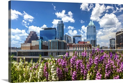 Texas, Austin downtown skyline and Frost Bank Tower, The Austonian