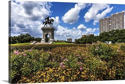 Texas, Houston, Sam Houston Monument at Hermann Park