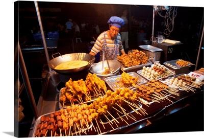 Thailand, Andaman sea, market in Krabi town