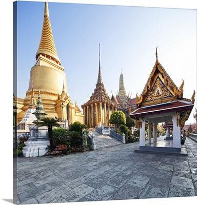 Thailand, Bangkok, Grand Palace, The Wat Phra Kaew, inside the Grand Palace complex