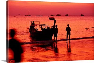 Thailand, Krabi, Andaman sea, Ao Nang Beach
