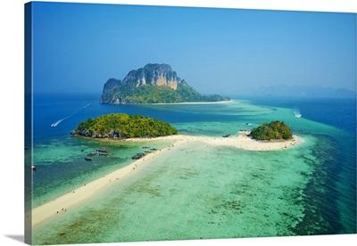 Thailand, Southern Thailand, Krabi, Poda island, Ko Tub and ko Poda Island