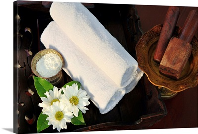 Thailand, Thailand Northern, Southeast Asia, Chiang Mai, Spa tray