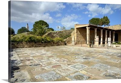 Tunisia, Tunis, Carthage, Roman villa with mosaic flooring