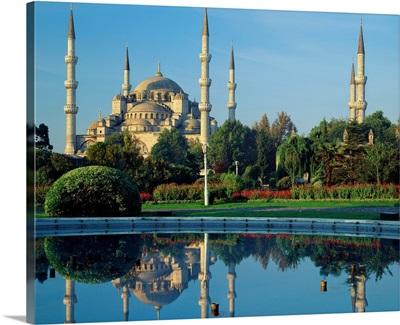 Turkey, Asia Minor, Istanbul, Blue Mosque (Sultan Ahmet Mosque)