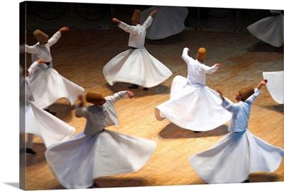 Turkey, Central Anatolia, Konya, whirling dervishes