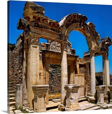 Turkey, Ephesus, Curetes's Street, Hadrian's Temple