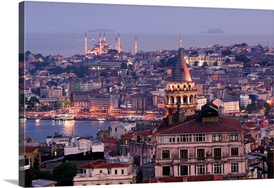 Turkey, Istanbul, Background of Golden Horn and Sultanahmet