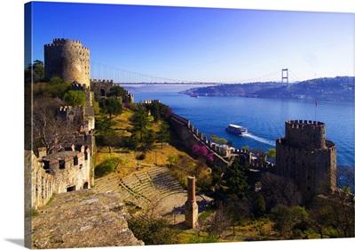 Turkey, Istanbul, Rumeli Hisar Fortress, Bosphorus
