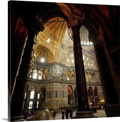 Turkey, Istanbul, St Sophia (Hagia Sophia) Mosque, inside view