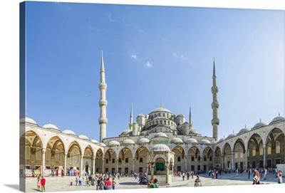 Turkey, Marmara, Istanbul, Blue Mosque, Sultan Ahmed Mosque