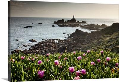 UK, Channel Islands, Great Britain, English Channel, Jersey, La Corbiere lighthouse