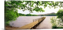 UK, England, Cumbria, Lake District, Coniston Water lake