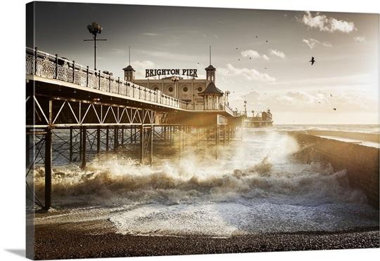 Uk england great britain east sussex brighton brighton pier canvas