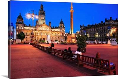 UK, Scotland, Glasgow, George Square, City Chambers