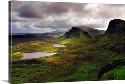 UK, Scotland, Highlands, Skye island, Trotternish Peninsula, Quiraing range