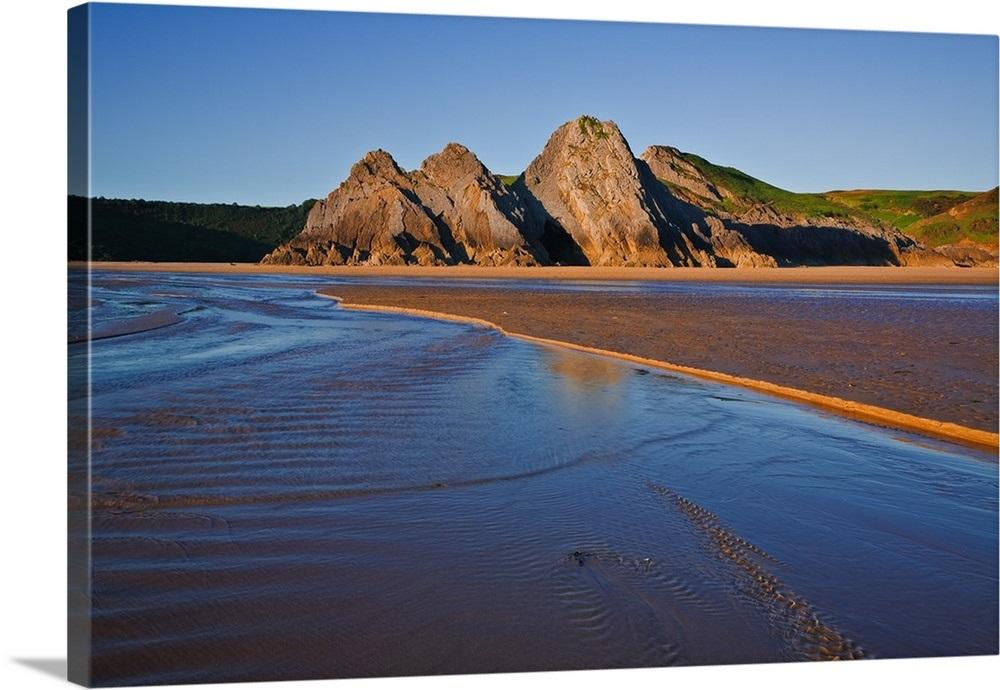 UK, Wales, Gower Peninsula, Swansea, Three Cliffs Bay, the beach