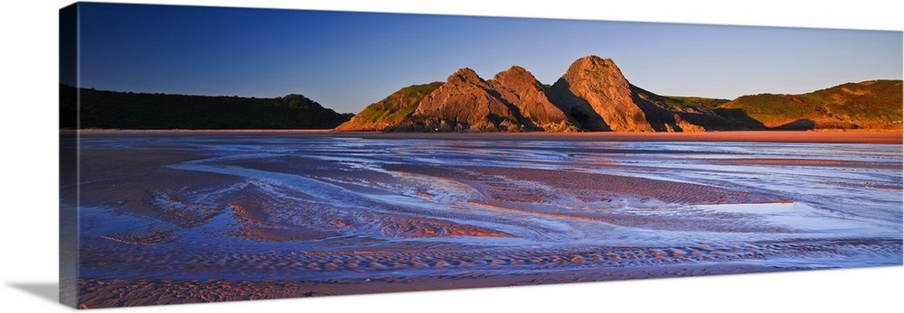 UK, Wales, Gower Peninsula, Three Cliffs Bay, the beach