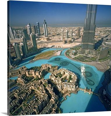 United Arab Emirates, Dubai, Burj Khalifa and Downtown Dubai
