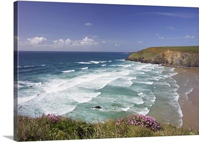 United Kingdom, England, Cornwall, Mawgan Porth on the Southwest Coast Path