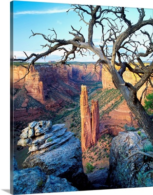 United States, Arizona, Canyon de Chelly National Monument, Spider Rock