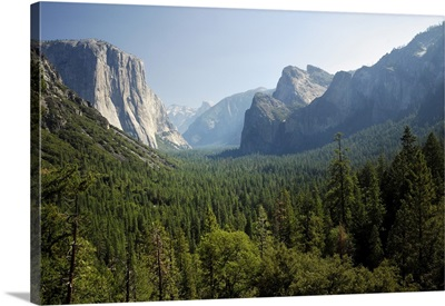 USA, California, Yosemite National Park, Tunnel View, Yosemite Valley