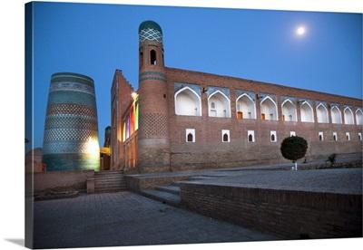 Uzbekistan, Khorazm, Khiva, Muhammad Aminkhan Madrassah and Minaret