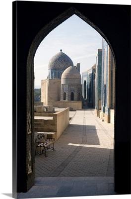 Uzbekistan, Samarqand, Samarkand, Samarkand Shakhi Zinda necropolis