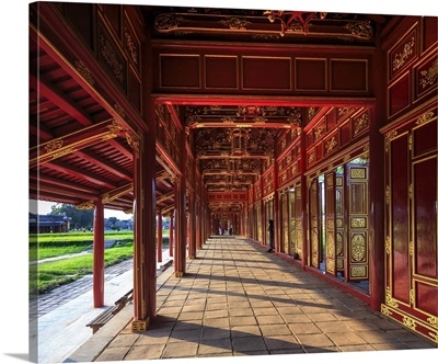 Vietnam, Hue, Chinese Citadel, side corridors connecting the pavilions