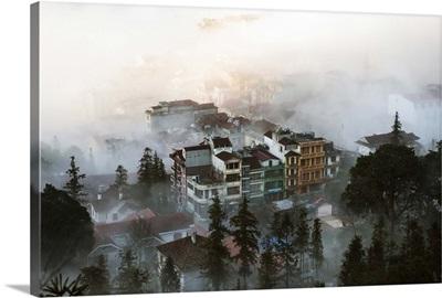 Vietnam, Red River Delta, Ha Noi, Hanoi, Morning mist over Sapa