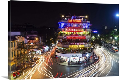 Vietnam, Red River Delta, Ha Noi, Hanoi, Night scene in Hanoi