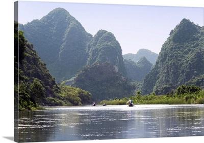 Vietnam, Red River Delta, North Vietnam, Trang An, Limestone karsts