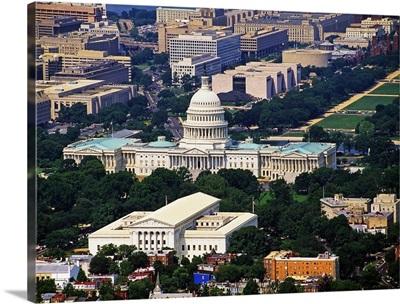 Washington, D.C., Aerial view near the Capitol
