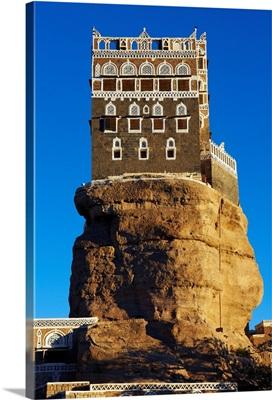 Yemen, North Yemen, Sanaa, Wadi Dhar, Rock palace (Dar Al Hajar)