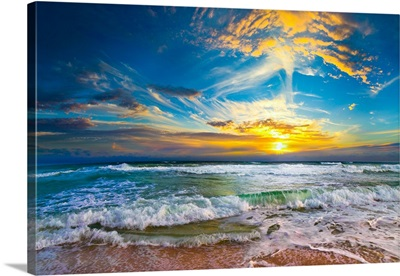 Beautiful Beach Sunset The Eternal Sea Landscape