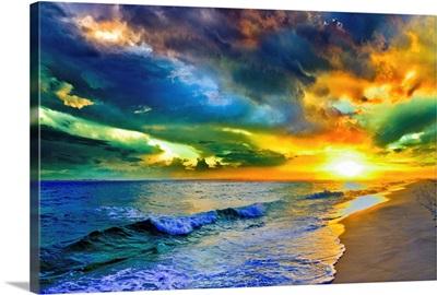 Beautiful Landscape Photo Beautiful Sunset Sea