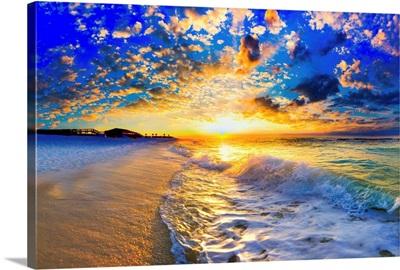 Beautiful Ocean Sunset Landscape Photography