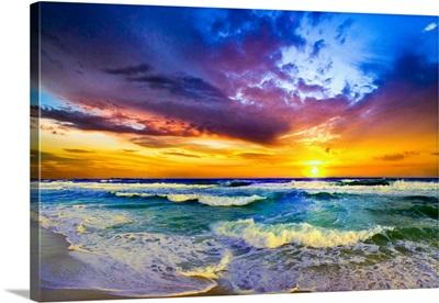 Beautiful Sunset Sea Beach Photography Prints 127