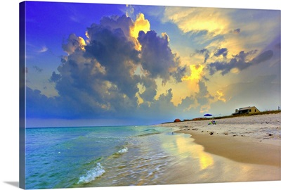 Blue Beach Sunset National Seashore Sea