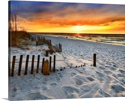 Burning Sunrise Print Sunset Landscape