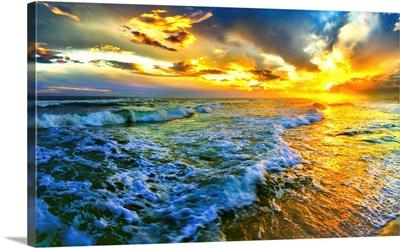 Golden Sunset Seascape