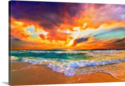 Landscape Photography Red Sunset Landscape