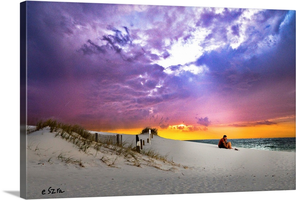 484909e04a2 Your Item was Added To Your Cart! Lovers Sunset-Couple Beach Romantic-Pink  Purple