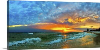 Orange Sunset Skyscape Landscape Beach